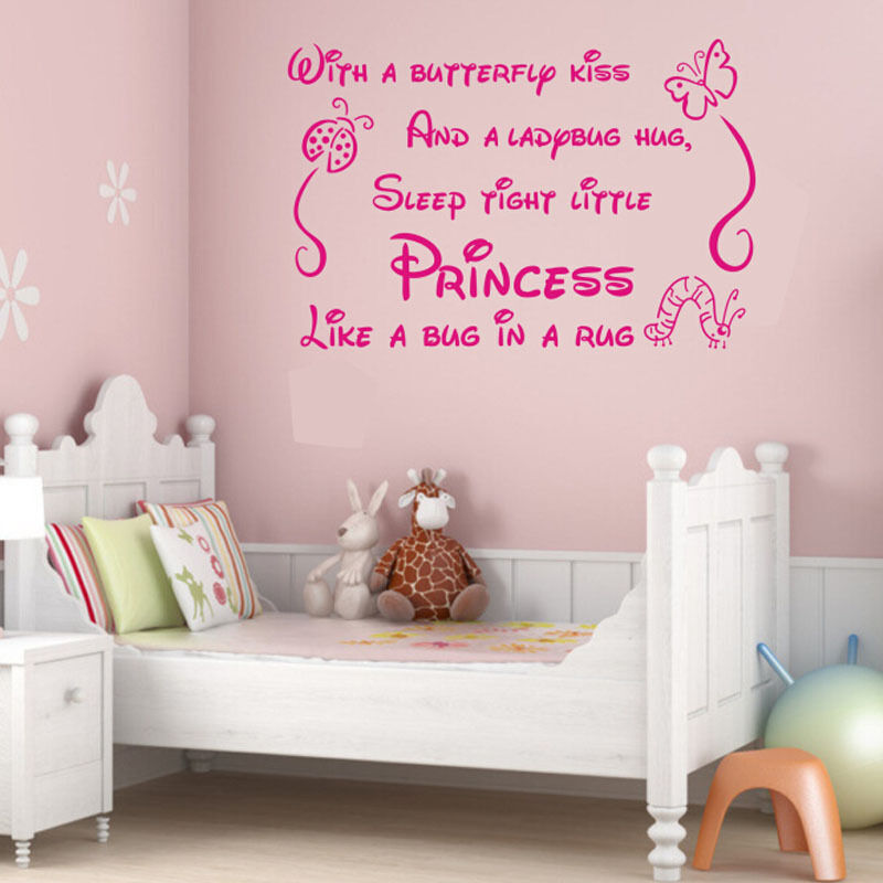 A Little Princess Nursery Design: Princess Quote Lettering Saying Girl Baby Nursery Bedroom