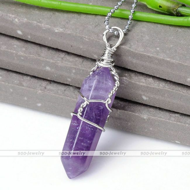amethyst crystal necklace - photo #32