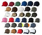 FLEXFIT - FITTED TRUCKER CAP, MESH BACK, BASEBALL HAT PLAIN 6511 CURVED FLEX FIT