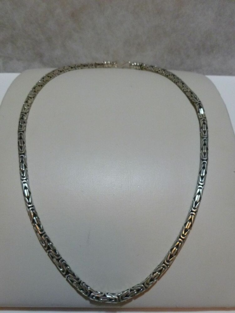 "MENS OR WOMENS 20"" STERLING SILVER BALI CHAIN LINK ..."