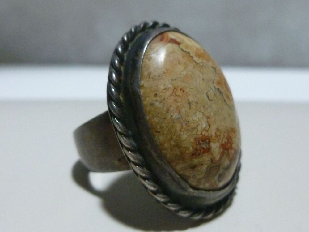 Natural Stone Art : Super heavy mexico mexican sterling silver womens natural