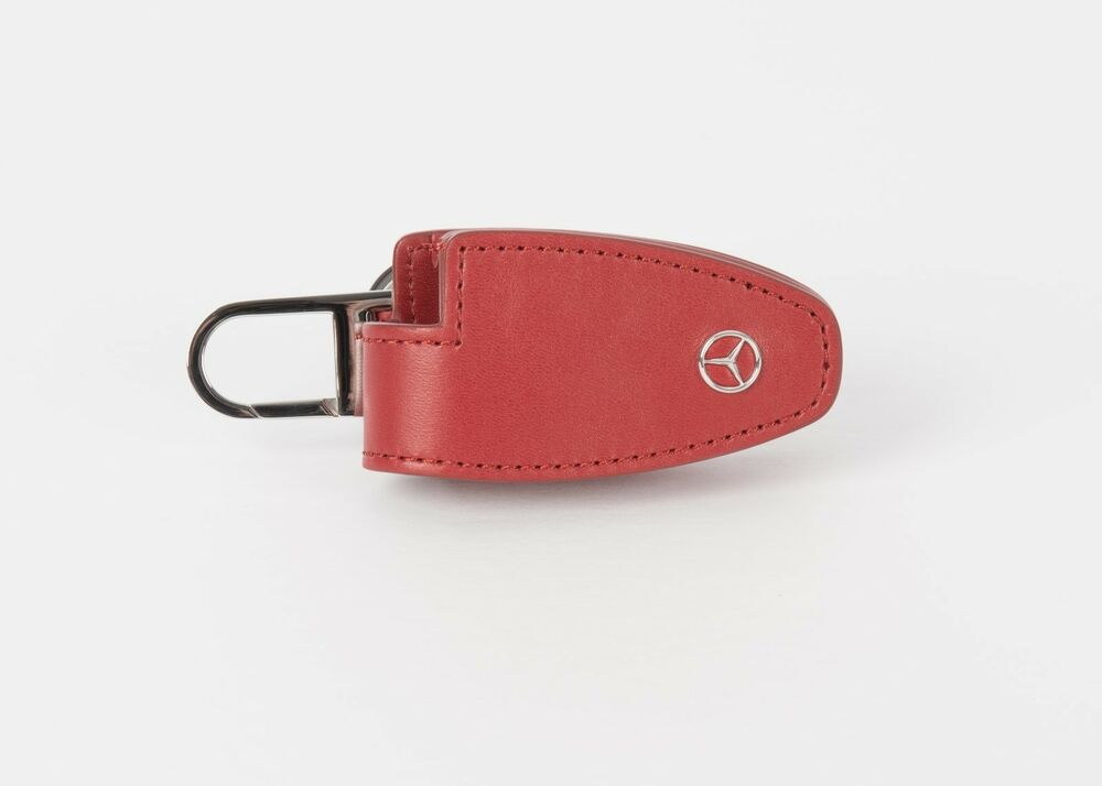 Genuine Mercedes Benz Key Cover RED - Leather / stainless ...