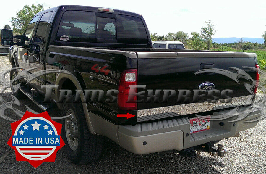 2008 2016 ford super duty f 250 tailgate trim molding accent stainless steel ebay. Black Bedroom Furniture Sets. Home Design Ideas