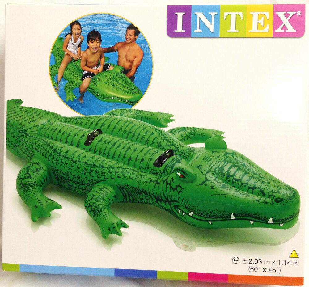 Intex inflatable gator crocodile pool float ride on Blow up alligator for swimming pool
