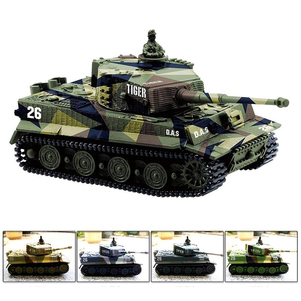 1 72 radio remote control battle tank mini rc german tiger. Black Bedroom Furniture Sets. Home Design Ideas