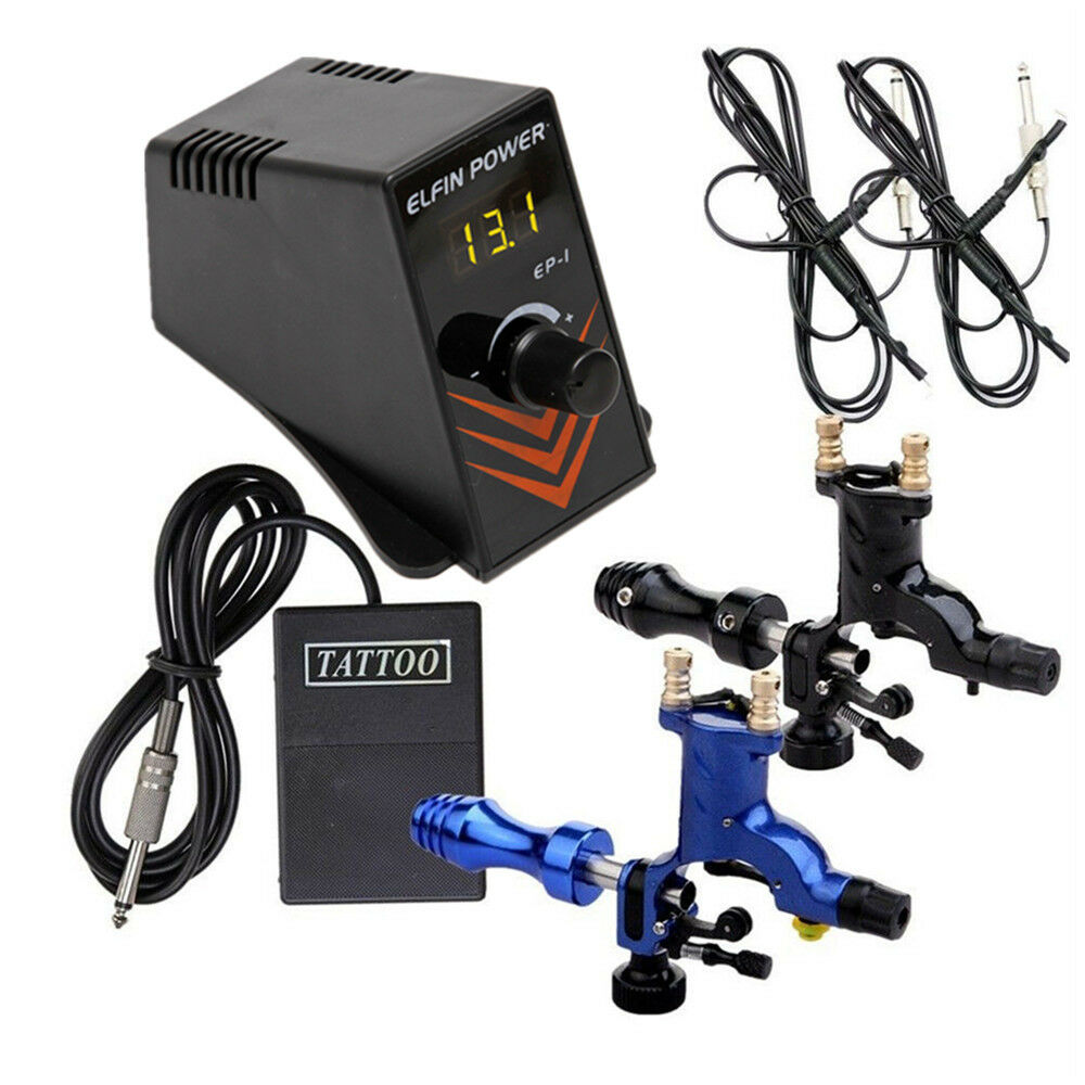 2 rotary tattoo machine gun motor with digital power for Power supply for tattoo