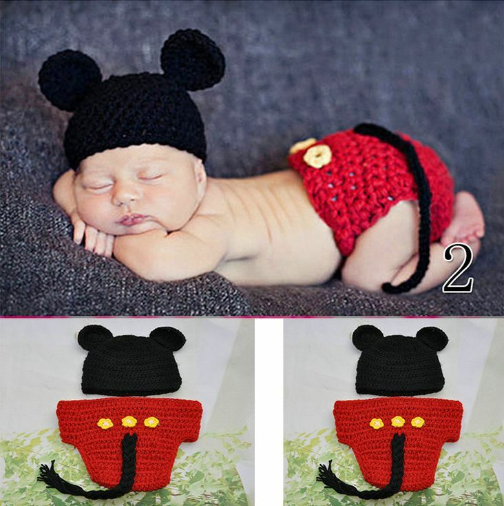 710b8f3c9048 HOT New Baby Girls Boy Newborn Knit Crochet Clothes Photo Prop Outfits 0-9M  +HB