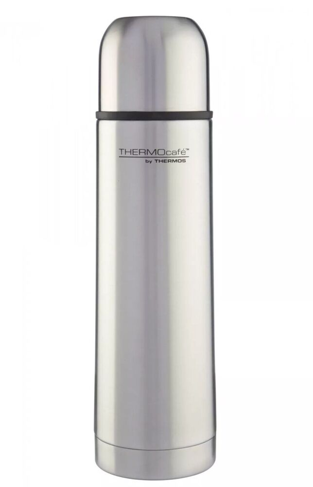 thermos thermocafe 500ml stainless steel flask vacuum flask ebay. Black Bedroom Furniture Sets. Home Design Ideas