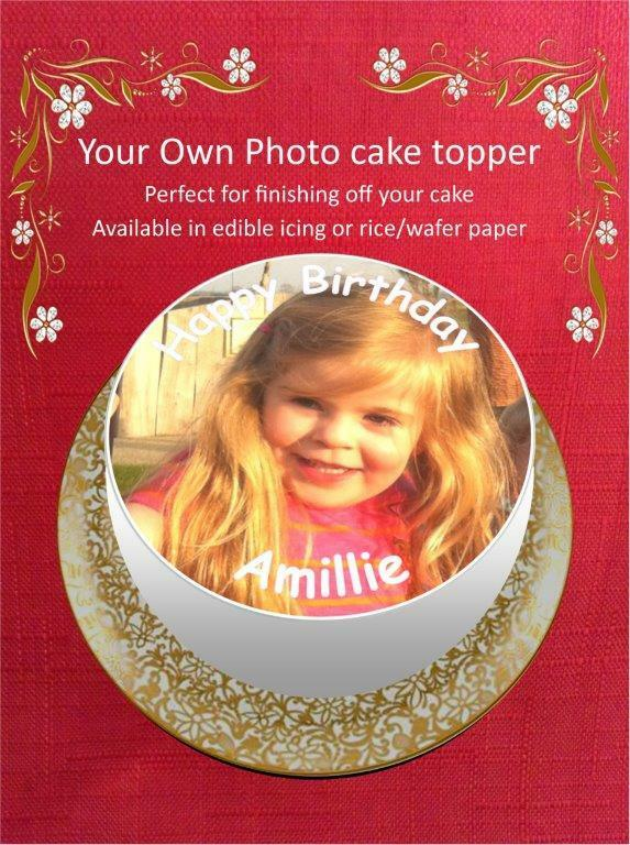 Your Own Photo/Design Personalised Cake Topper 10 Options ...
