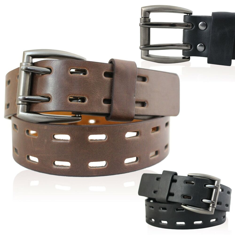 mens real leather belts 1 5 quot belt in black and brown with