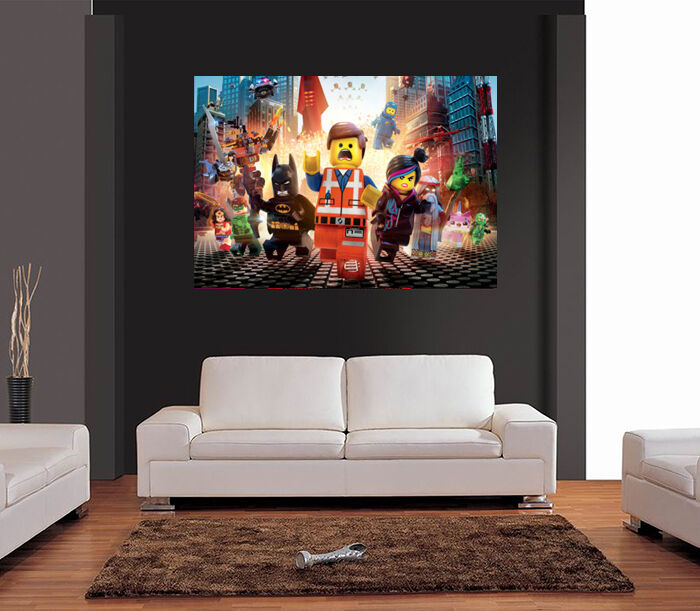 Room 2 Build Bedroom Kids Lego: THE LEGO MOVIE GIANT WALL ART A0/A1/A2 Poster Print- KIDS