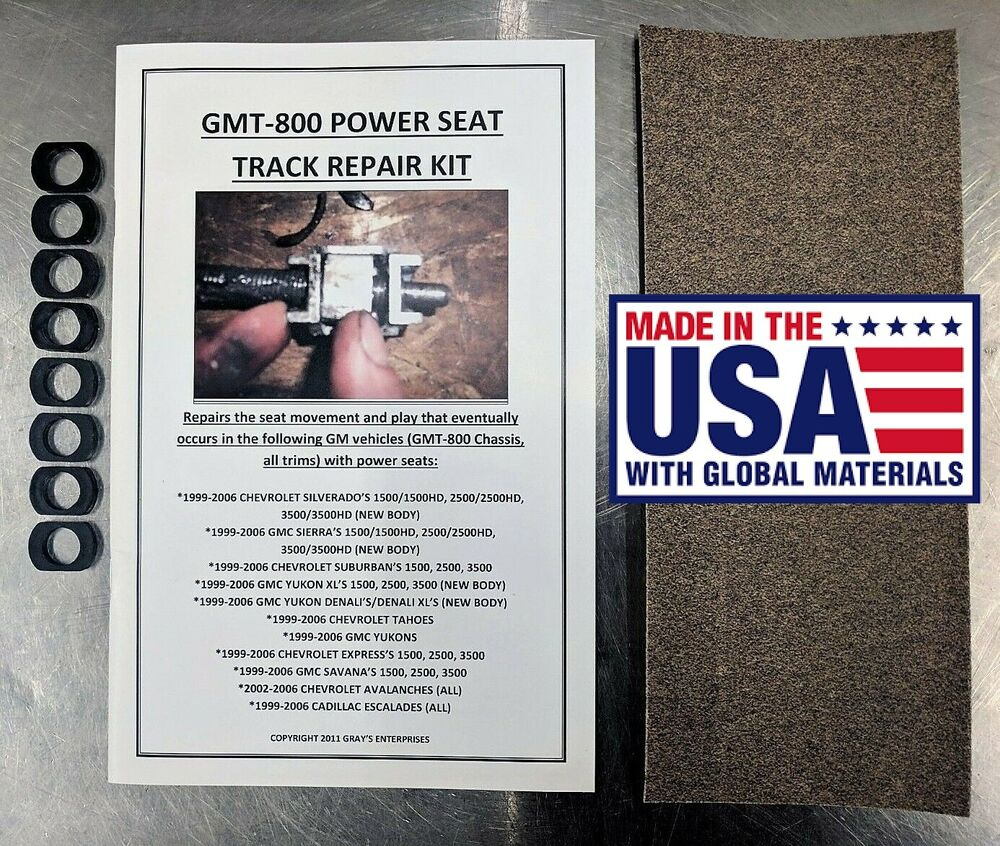 Gm Chevy Power Seat Track Unwanted Movement Play Repair