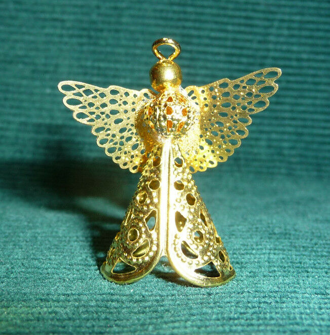 1 12 scale dollhouse miniature christmas handcrafted angel tree topper ornament ebay. Black Bedroom Furniture Sets. Home Design Ideas