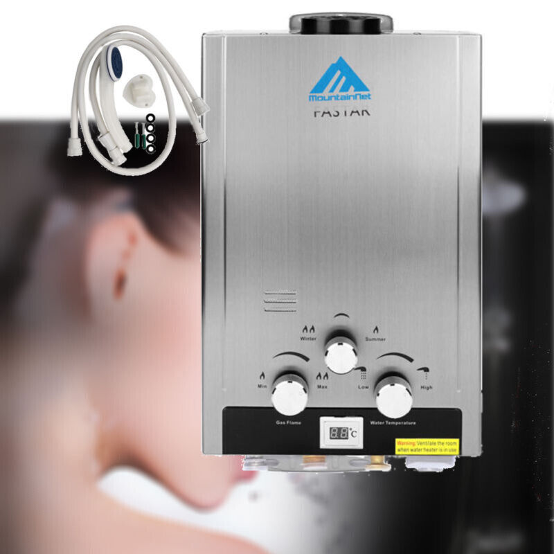 8L 2GPM Natural Gas Stainless Steel Hot Water Heater Tankless ...