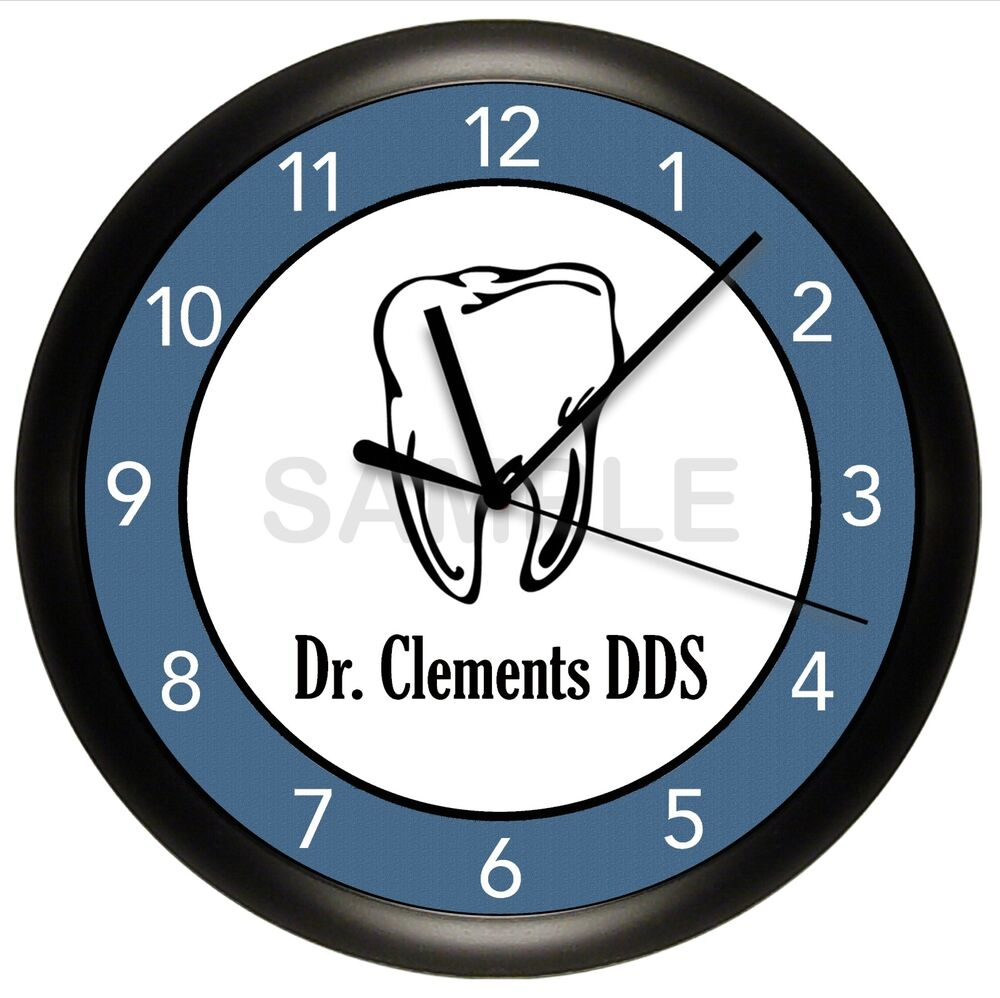 Dentist Wall Clock Personalized Office Decor Room Art Gift