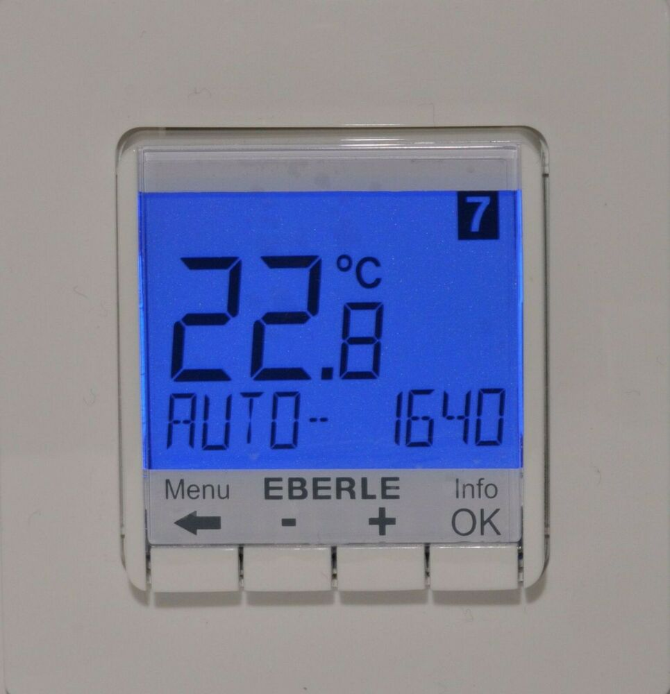uhrenthermostat eberle fit 3 f programmierbarer regler rot fu bodenheizung ebay. Black Bedroom Furniture Sets. Home Design Ideas