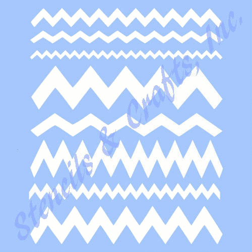 Chevron stencil assorted shapes stencils borders craft for Chevron template for painting