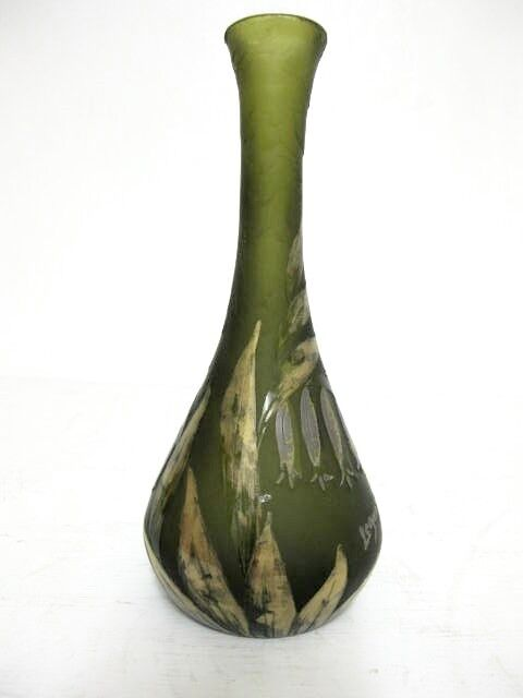 august legras cameo glass vase c1900 ebay. Black Bedroom Furniture Sets. Home Design Ideas