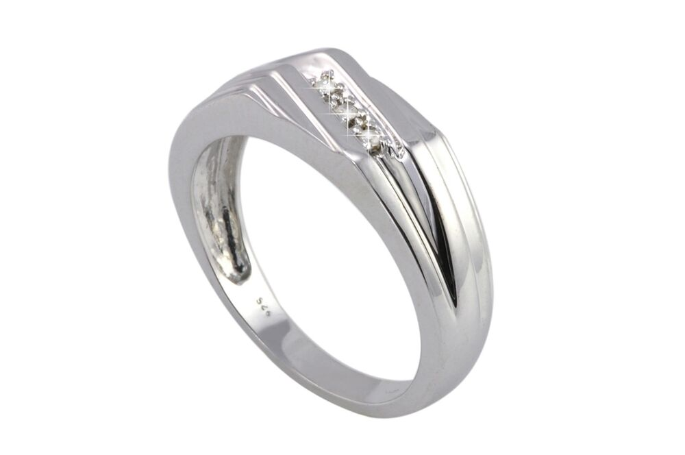 925 sterling silver mens 04ct ring size 11 high
