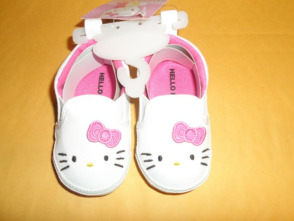 Girl s Baby Infant Shoes Sneakers Size 3 6 Months Hello
