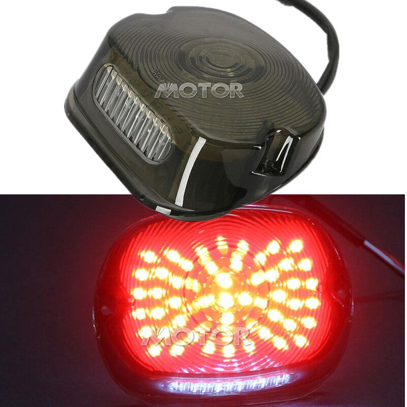 Smoke LED Tail Light For Harley Sportster Dyna Electra