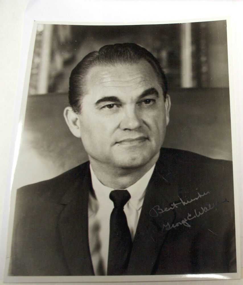 Signed Autograph Of George C Wallace 8 X 10 Ebay