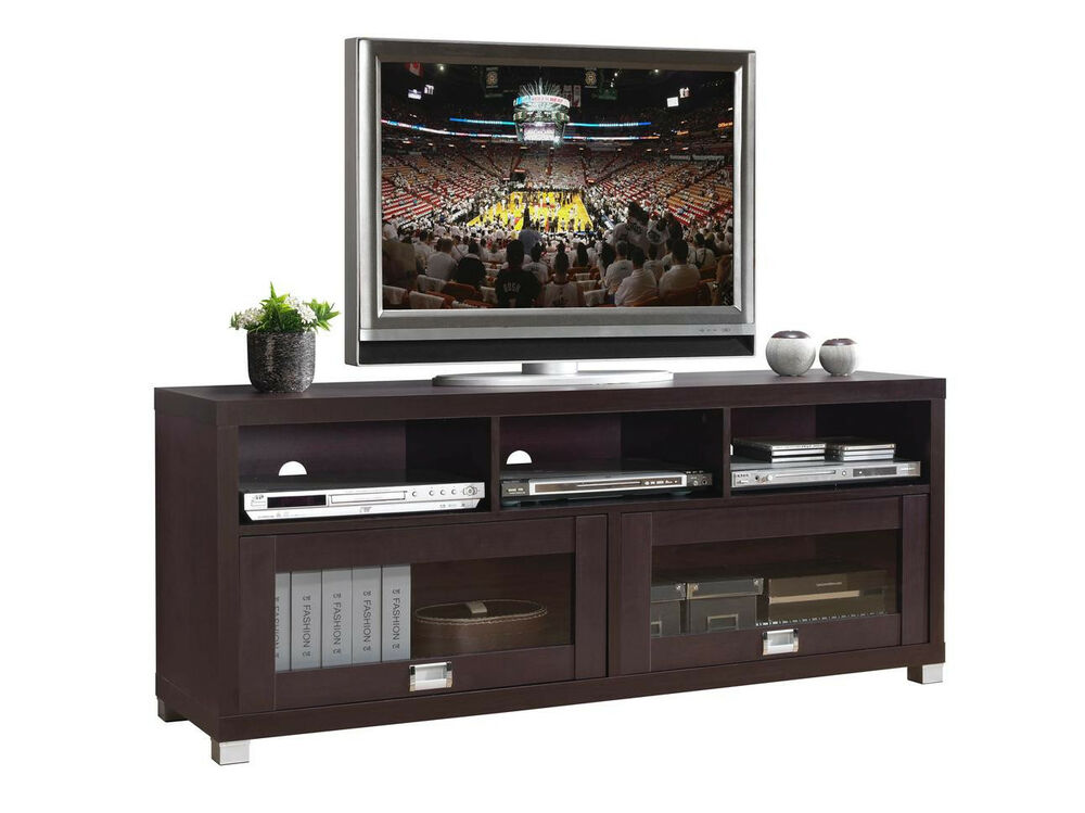 New contemporary durbin tv stand entertainment media centers home theater ebay - Mobili per home theatre ...