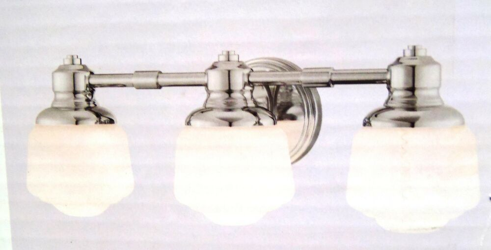 Hampton Bay Whitford 3-Light Polished Nickel Wall Sconce