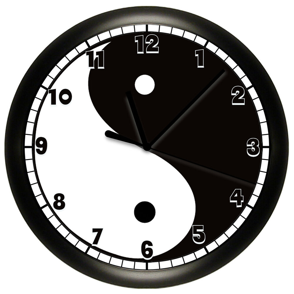 asian clock decor wall
