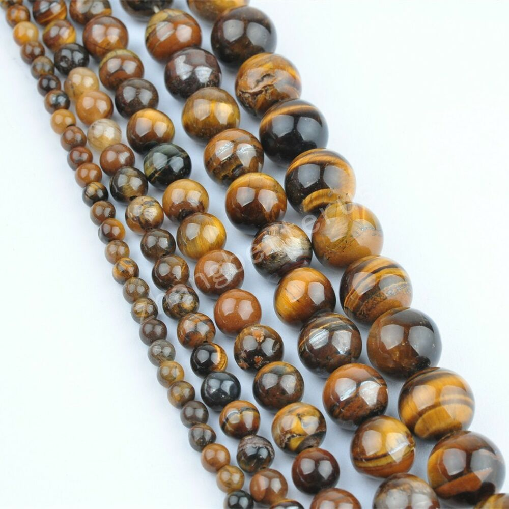 Natural Stone Beads : Natural tiger s gemstone bead loose spacer beads