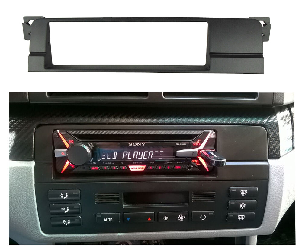 din radio cd stereo panel for bmw 3 series e46 dash mount. Black Bedroom Furniture Sets. Home Design Ideas