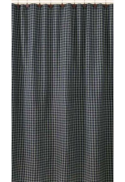 Sturbridge Navy Blue Country Plaid Shower Curtain by Park Designs 72 ...