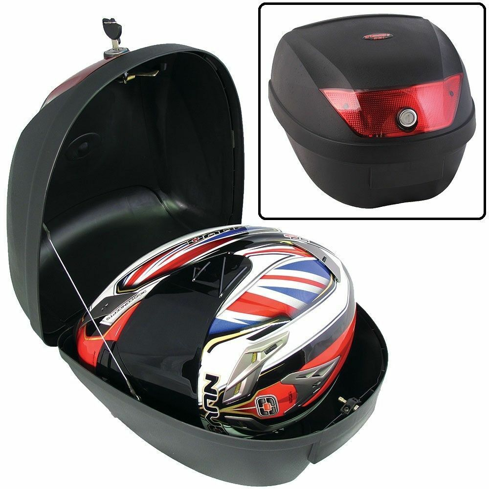 motorcycle top box luggage universal 26 litre scooter case 26l sym ebay. Black Bedroom Furniture Sets. Home Design Ideas