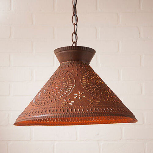 country kitchen pendant lighting roosevelt pendant shade light in rustic tin w chisel 6117