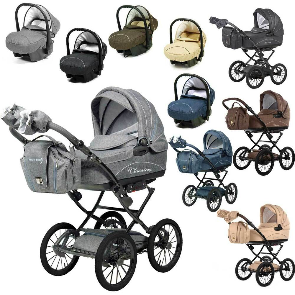 komplett angebot knorr baby kinderwagen classico mit babyschale farbwahl ebay. Black Bedroom Furniture Sets. Home Design Ideas