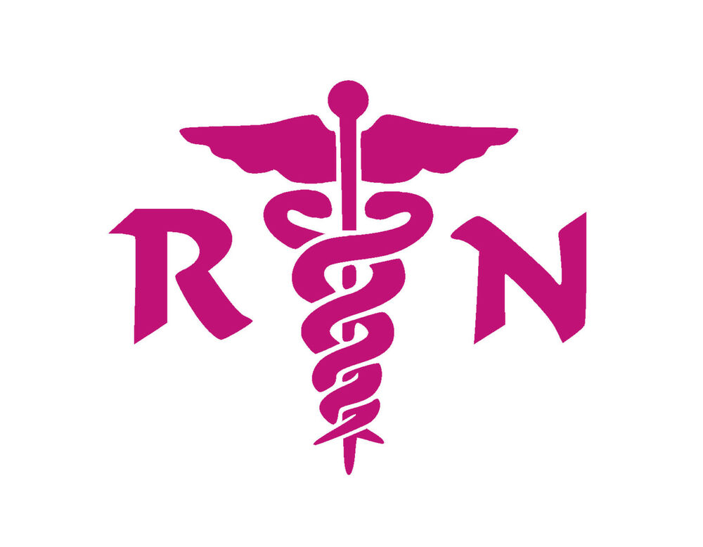 Pink Registered Nurse Symbol