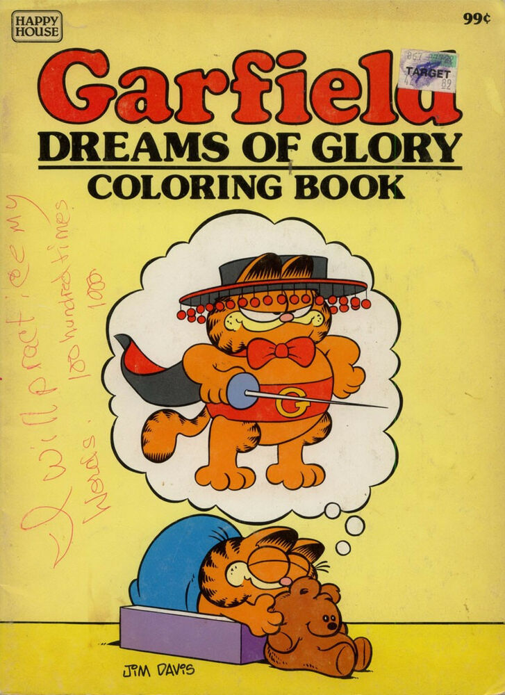 Garfield Coloring Book RARE