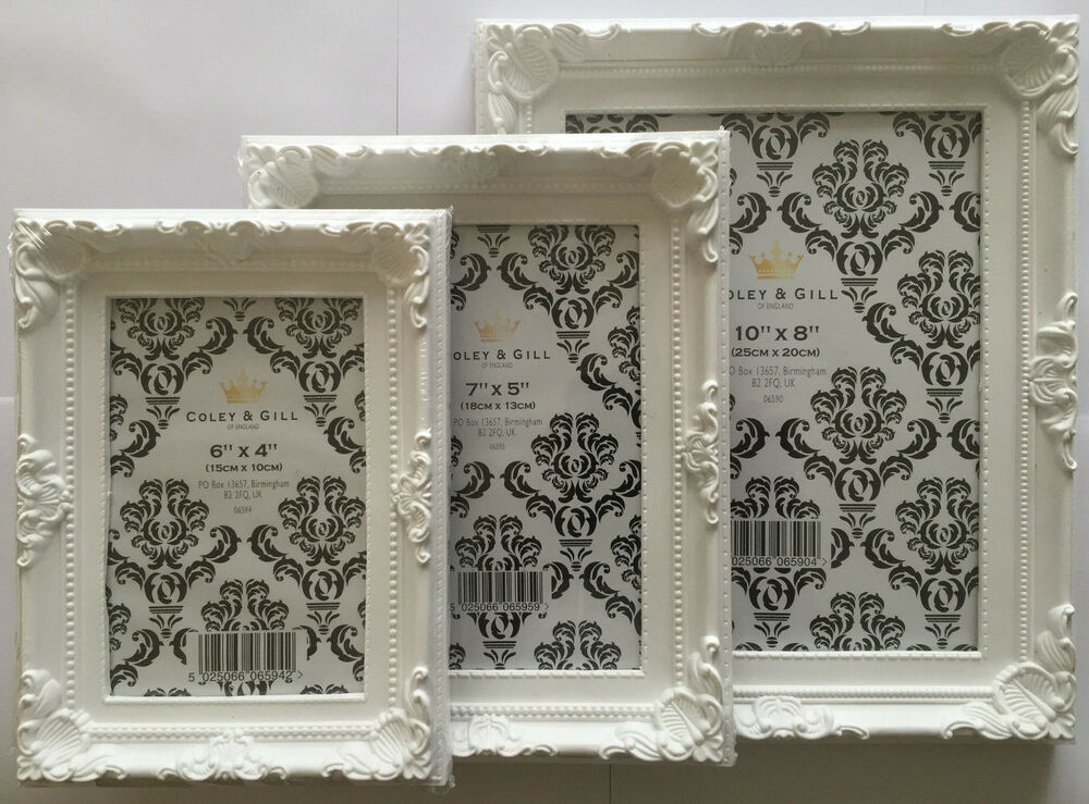 white picture photo frame shabby chic french retro style. Black Bedroom Furniture Sets. Home Design Ideas