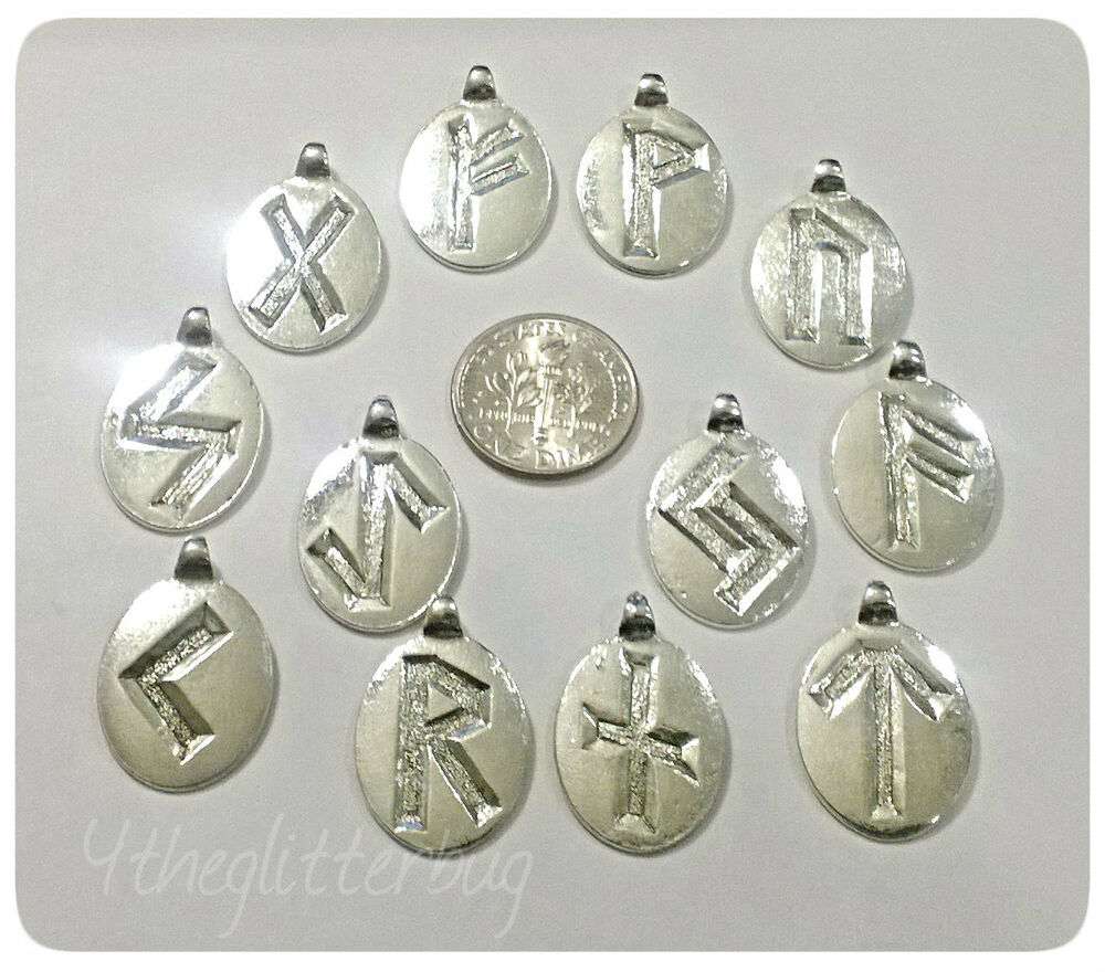 norse nordic rune charms sterling silver plated pewter