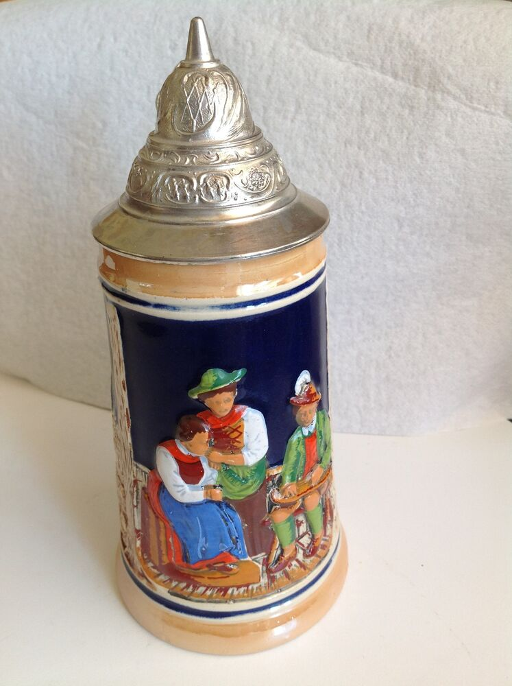 Vintage Western Germany German Lidded Beer Stein Mug 25 1