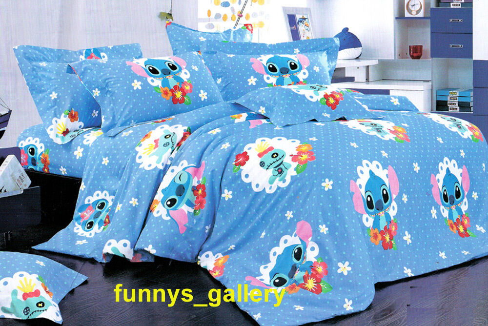 Lilo Amp Stitch Bedding Set B Fitted Sheet Duvet Cover