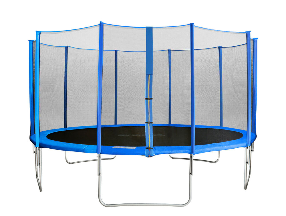 sixbros sixjump 4 30 m gartentrampolin blau trampolin mit netz cst430 l1760 ebay. Black Bedroom Furniture Sets. Home Design Ideas