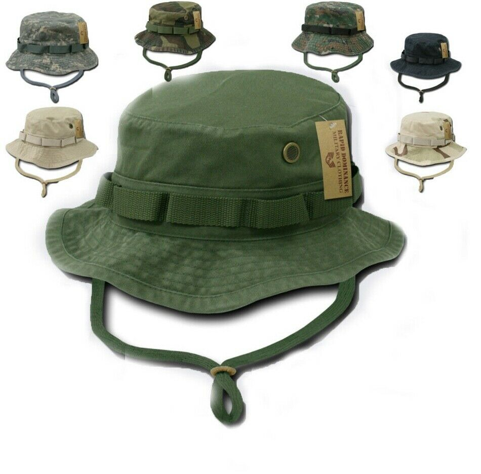 712c4990fc102 Details about Woodland Camo Military Boonie Hunting Army Fishing Bucket  Jungle Cap Hat M L XL