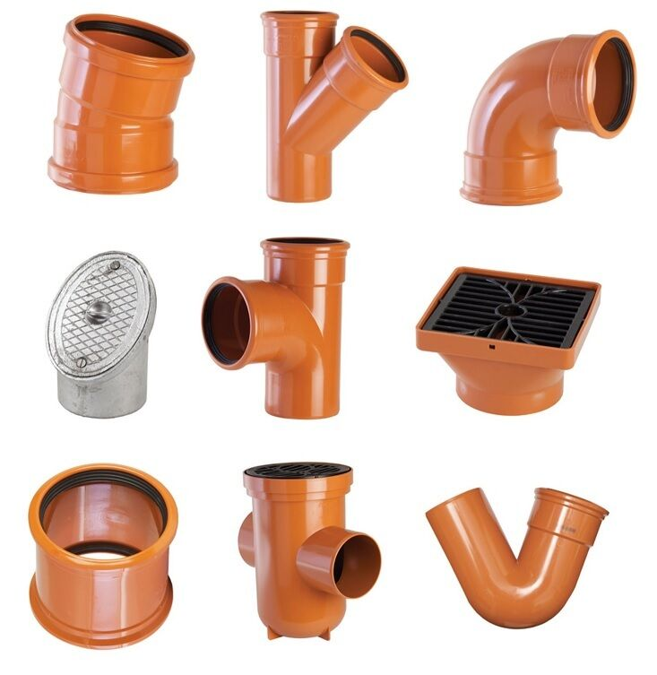 Underground drainage mm pipe fittings junctions