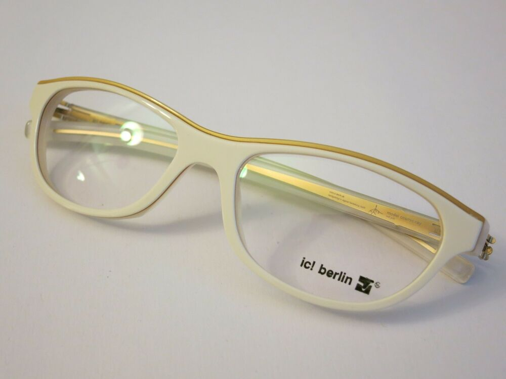 IC! Berlin COSMIC RAY White Matt Gold Glasses Eyewear ...
