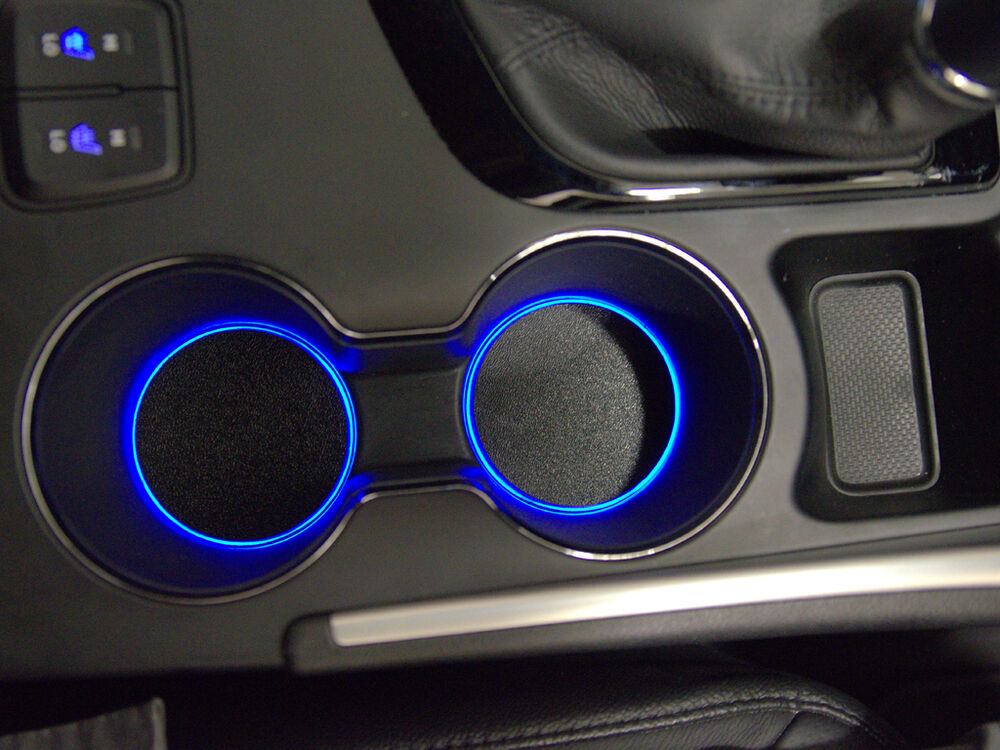 led cup holder lights blue leds fits 2011 2014 hyundai sonata custom mod ebay. Black Bedroom Furniture Sets. Home Design Ideas
