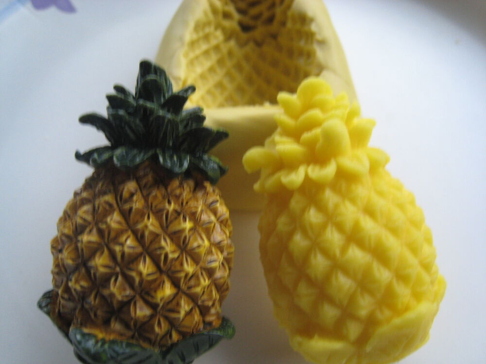 Hawaiin Pineapple Fruit Silicone Mold Gumpaste Fondant