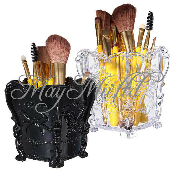 makeup cosmetic storage box case holder brush pen organizer acrylic decorative ebay. Black Bedroom Furniture Sets. Home Design Ideas