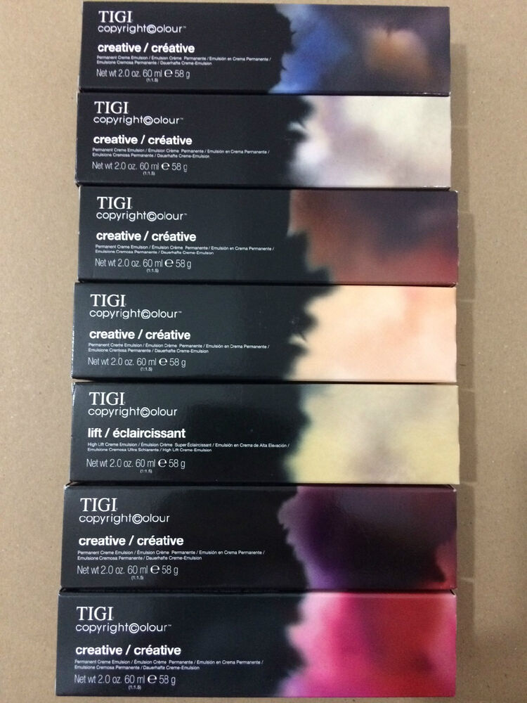Tigi Copyright Colour Creative Permanent Creme Hair Colour