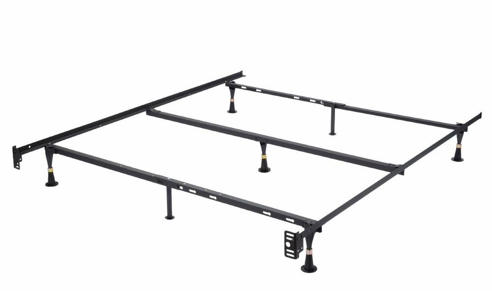 Heavy Duty Adjustable Metal Bed Frame, Queen, Full, Full
